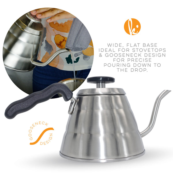 Pour Over Gooseneck Coffee Kettle with Thermometer