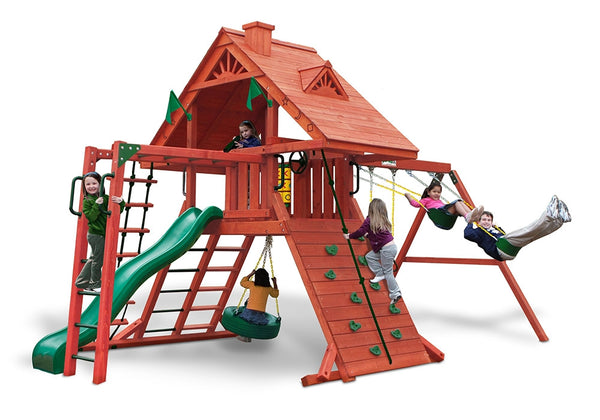 Gorilla Playsets Sun Palace II Wood Swing Set (01-0013)
