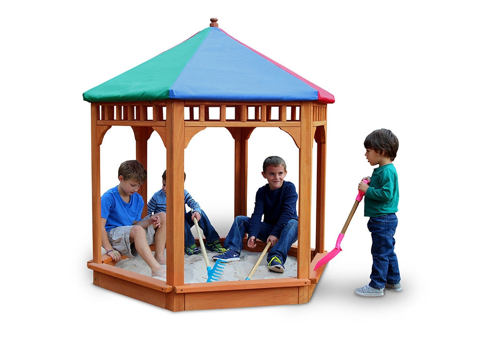Gorilla Playsets Play-Zee-Bo Covered Sandbox (02-3004)