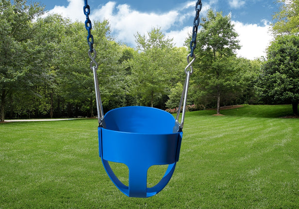 Gorilla Playsets Full Bucket Toddler Swing - Blue (04-0008-B/B)