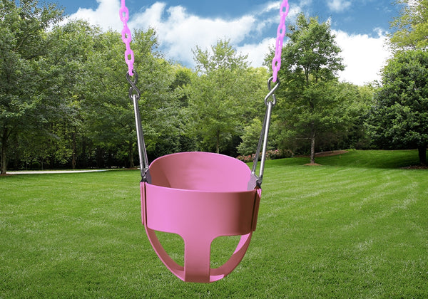 Gorilla Playsets Full Bucket Toddler Swing - Pink (04-0008-PK/PK)