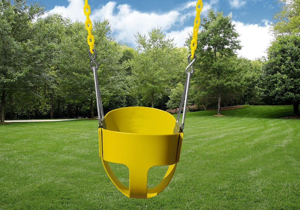 Gorilla Playsets Full Bucket Toddler Swing - Yellow (04-0008-Y/Y)