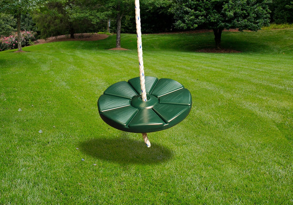 Gorilla Playsets Disc Swing with Rope - Green (04-0018-G)