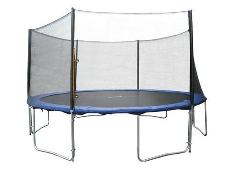 EXACME 14 FT 6W LEGS TRAMPOLINE W/ SAFETY PAD & ENCLOSURE NET & LADDER COMBO T14 (6180-14ftcombo)
