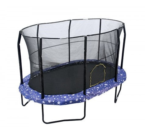 Jumpking Oval 9' X 14' Trampoline With American Stars Graphic Pad Jk914As