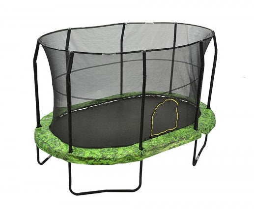 Jumpking Oval 8' X 12' Trampoline With Fern Graphic Pad Jk812Fn