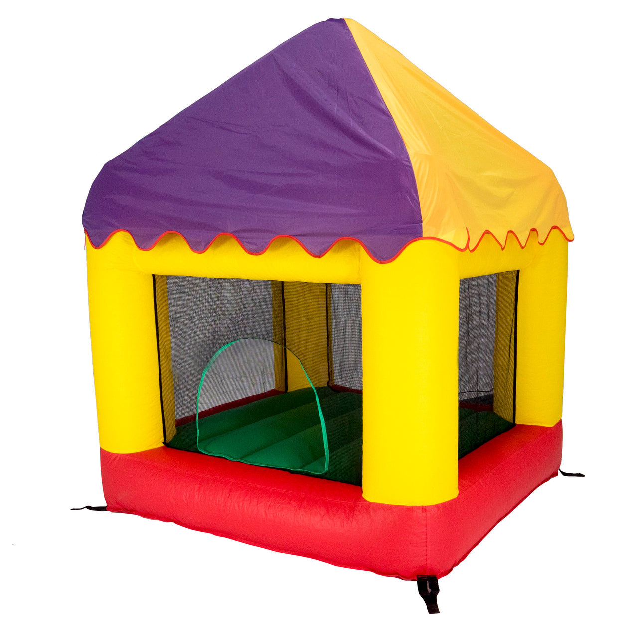Bazoongi 6.25' X 6' Bounce House Combo (With Circus Cover) Bh66Or + Bhcc