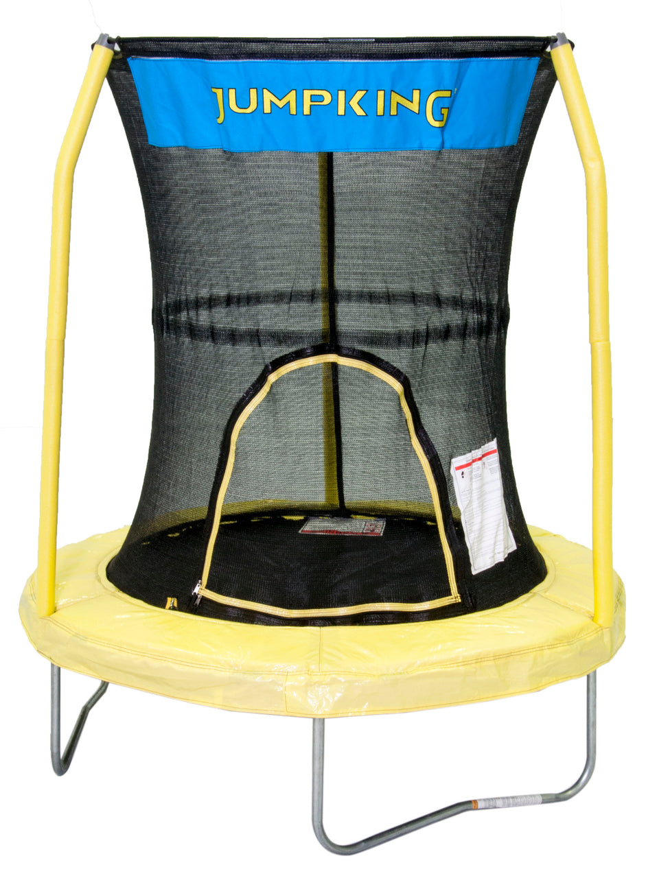 "Bazoongi 55"" Trampoline With 3 Poles Enclosure System (Yellow) Bzjp55Y"