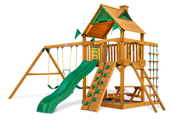 Gorilla Playset Chateau Swing Set w/ Amber Posts  (01-0003-AP)