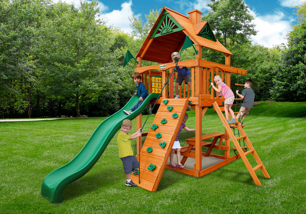 Gorilla Playsets Chateau Tower Swing Set w/ Amber Posts (01-0061-AP)