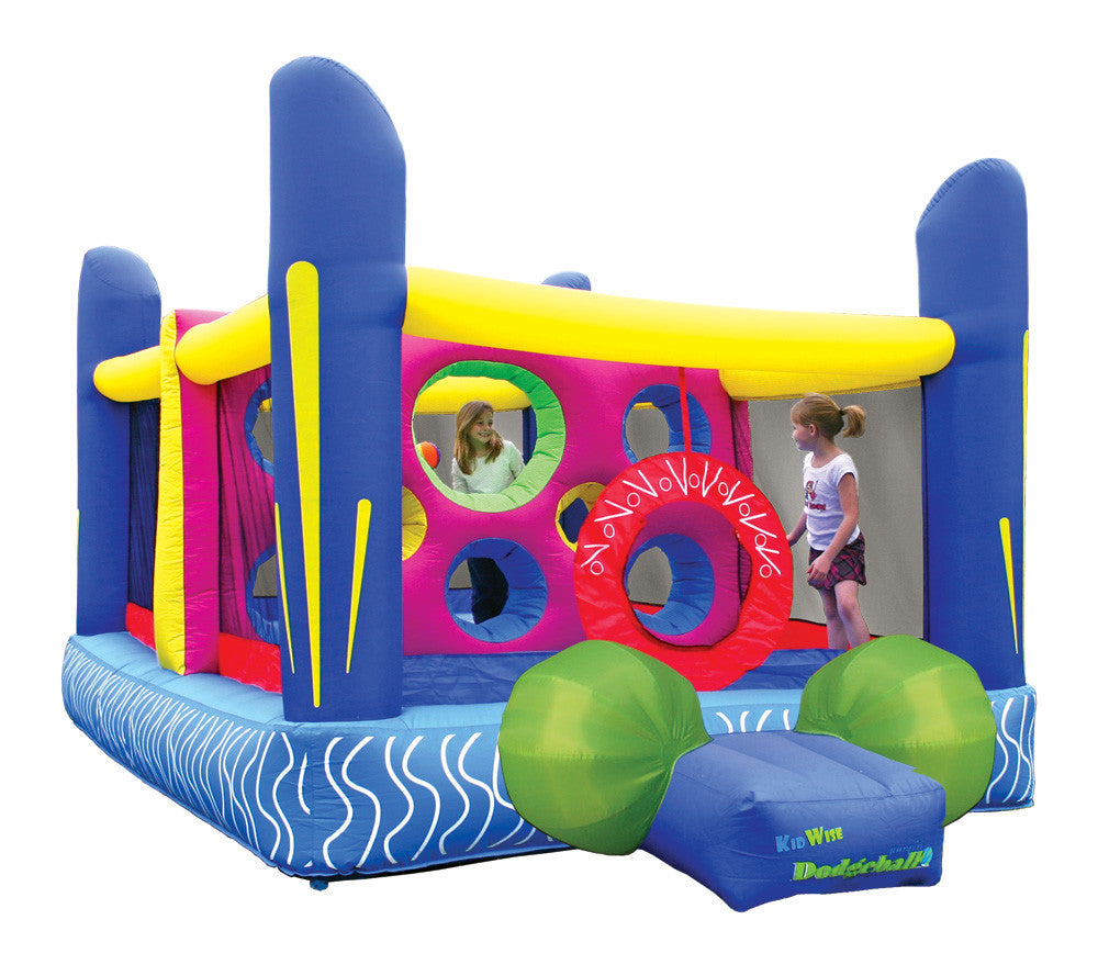KidWise Jump'n Dodgeball Sports Game - Inflatable Bounce House (KWJC-101-01)