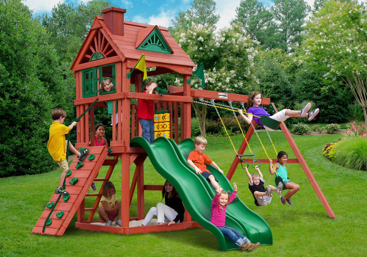Gorilla Playsets Double Down Swing Set (01-0036)