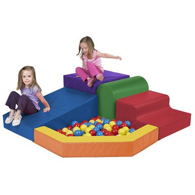 ECR4Kids SoftZoneå¨ Primary Climber with Ball Pool (ELR-0833)