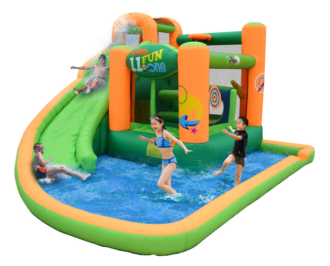 KidWise Endless Fun 11 in 1 Inflatable Bounce House and Water Slide (KWWS-9306)