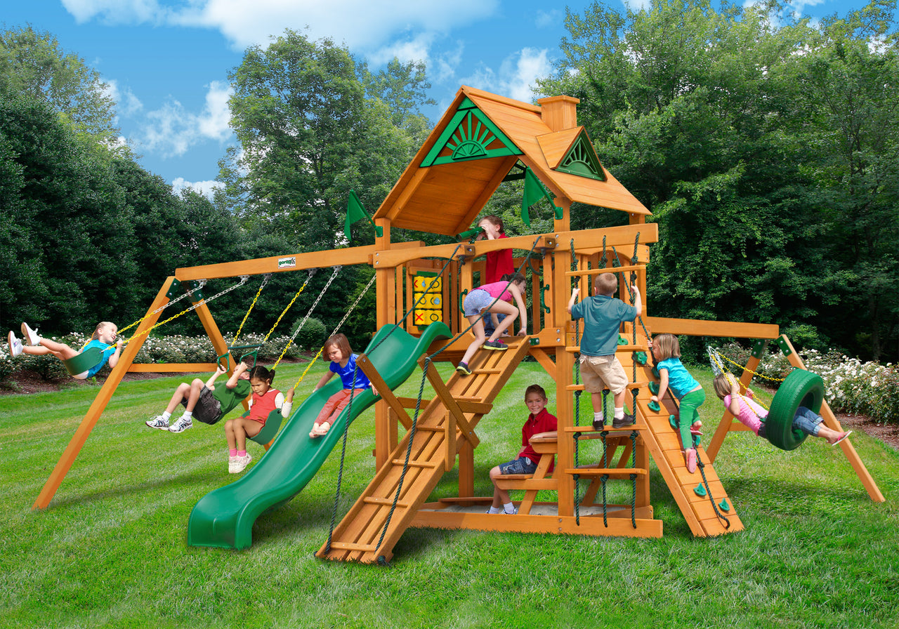 Gorilla Playsets Frontier Swing Set w/ Amber Posts (01-0004-AP)