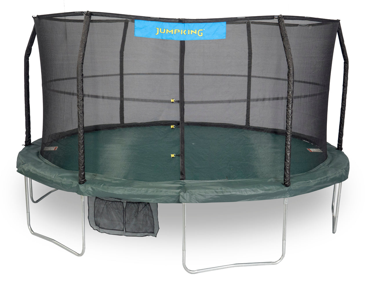 Jumpking 15' Trampoline Green, 6 Legs,6 Poles, 96 Springs  Jk1566C2