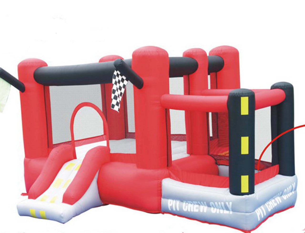 KidWise Little Raceway Bouncer - Inflatable Bounce House with Slide (SSD-RACER-03)