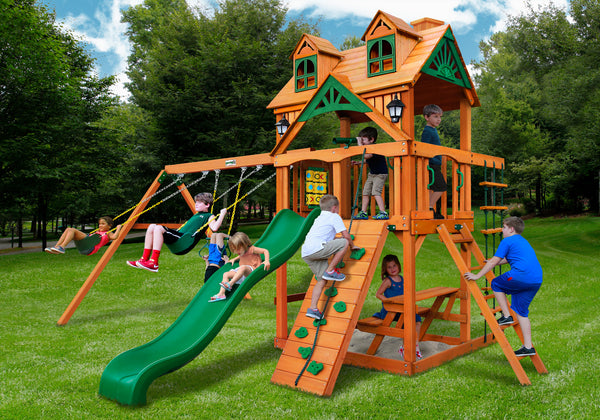 Gorilla Playsets Malibu Swing Set w/ Amber Posts (01-0045-AP)