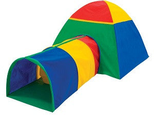 Bazoongi Cabana And Multi Color Tunnel Combo Play Tent Ps-Com