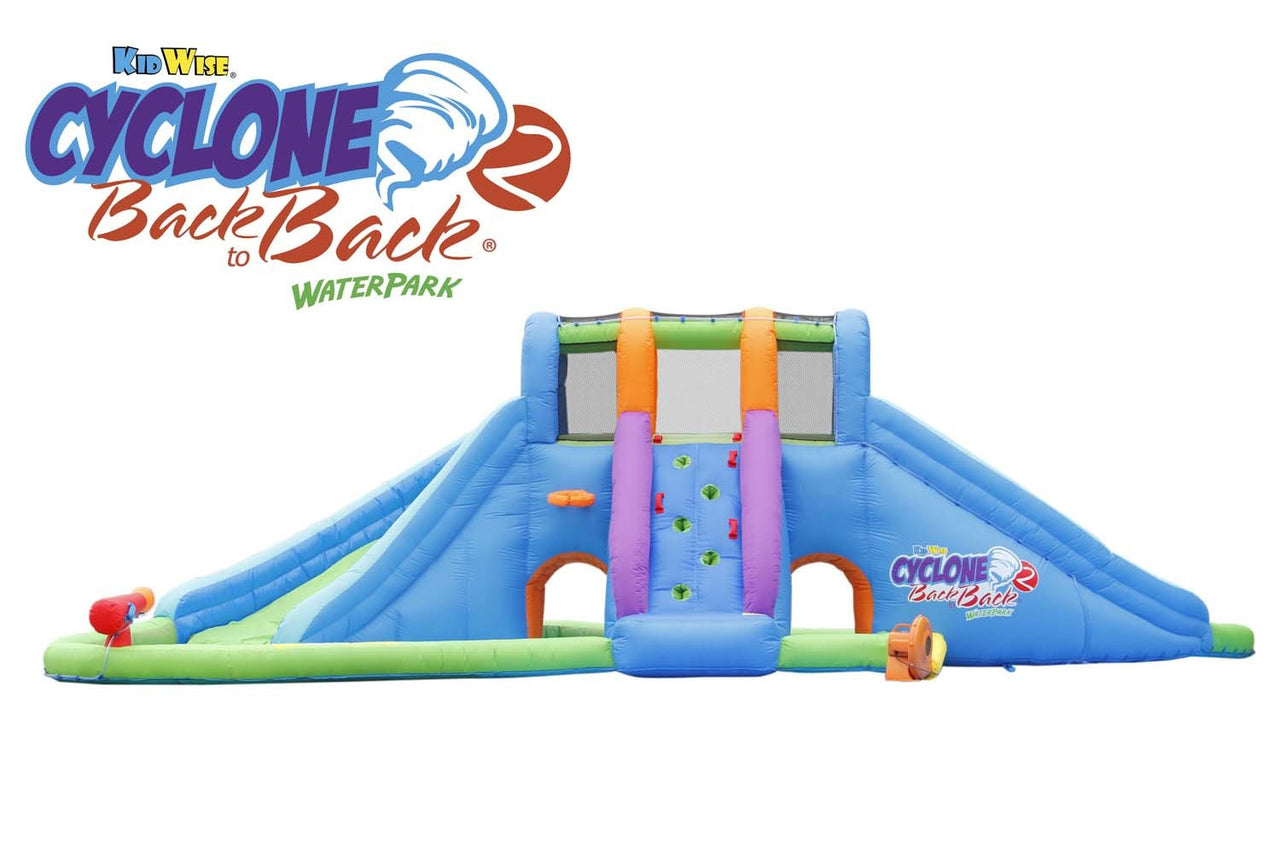 KidWise Cyclone2 Back to Backå¨ Waterpark and Lazy River (KWWS-CYC-V2)