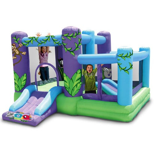 KidWise Zoo Park Bouncer with Ball Pit - Inflatable Bounce House (KW-ZOO-03R)