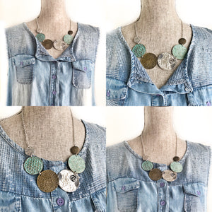 Bold Medallion Bib Necklace