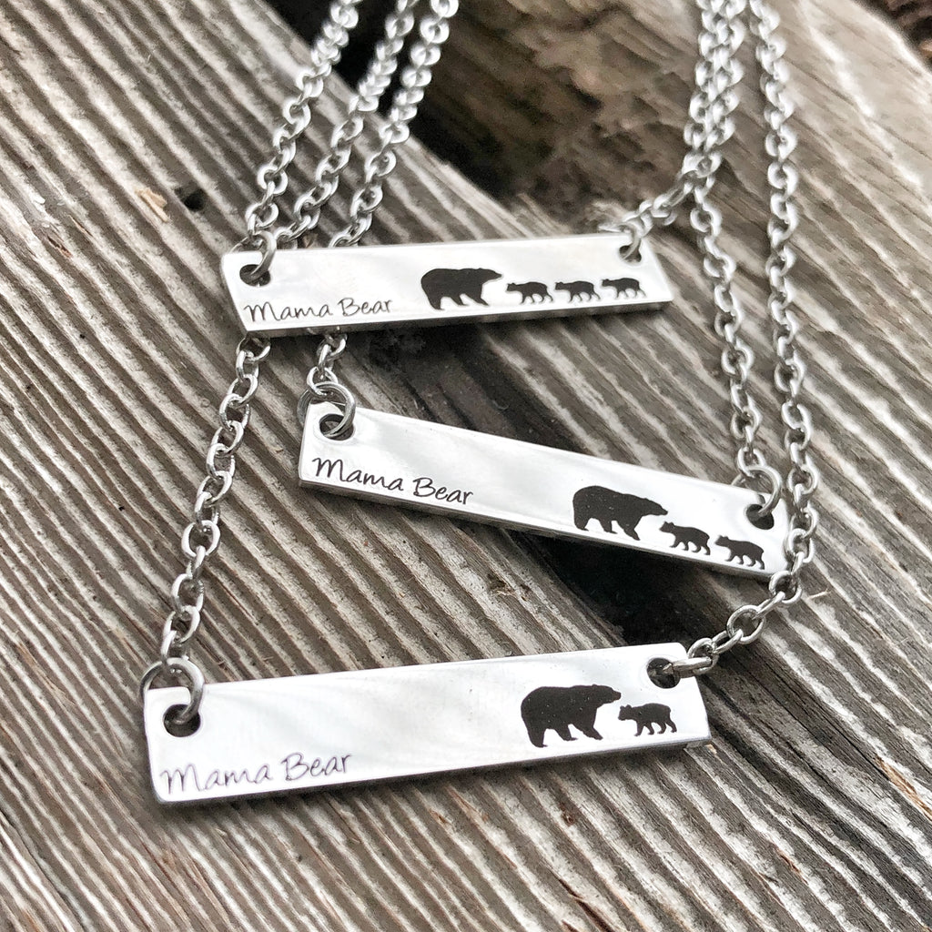 Mama Bear Bar Necklaces