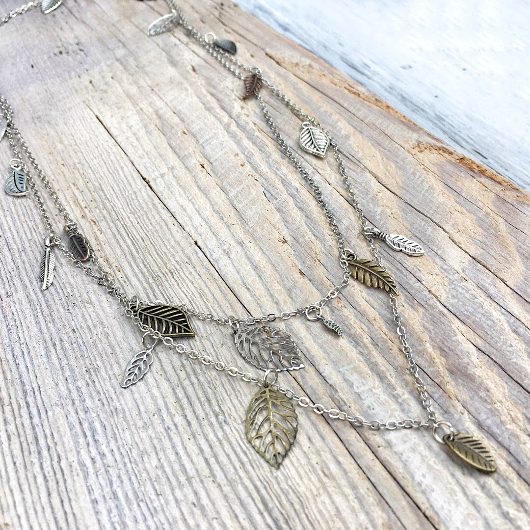 Waterfall Leaf Necklace