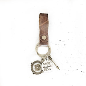 Wander without reason Keychain