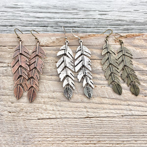 Large Movable Feather Earrings