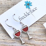 Red Wine Glass Earrings