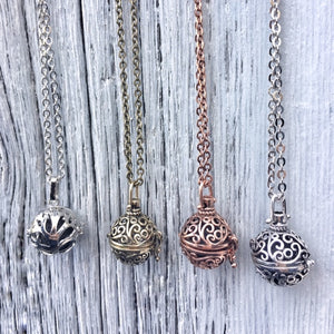 Essential Oil Diffuser Locket Necklace