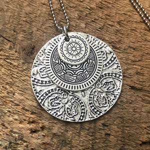 Triple Medallion Pendant Necklace