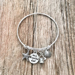 Toes in the Sand kind of Girl Bangle Bracelet