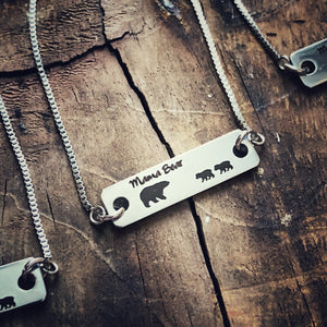 Mama Bear adjustable Bar Bracelets