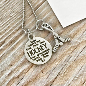 Hockey Charm Necklace