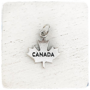 Canada - small maple leaf - Charm