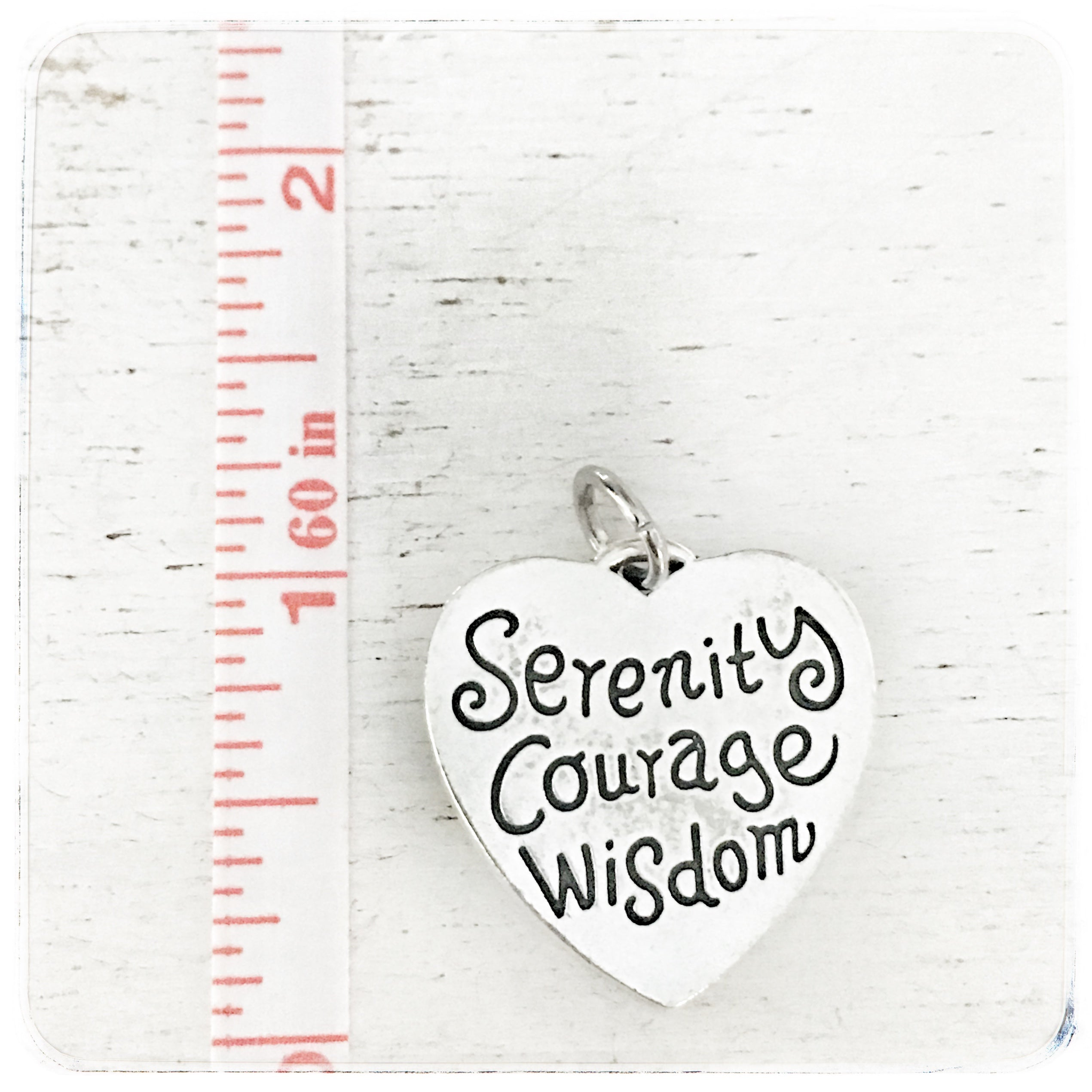 Serenity Courage Wisdom Heart - Charm