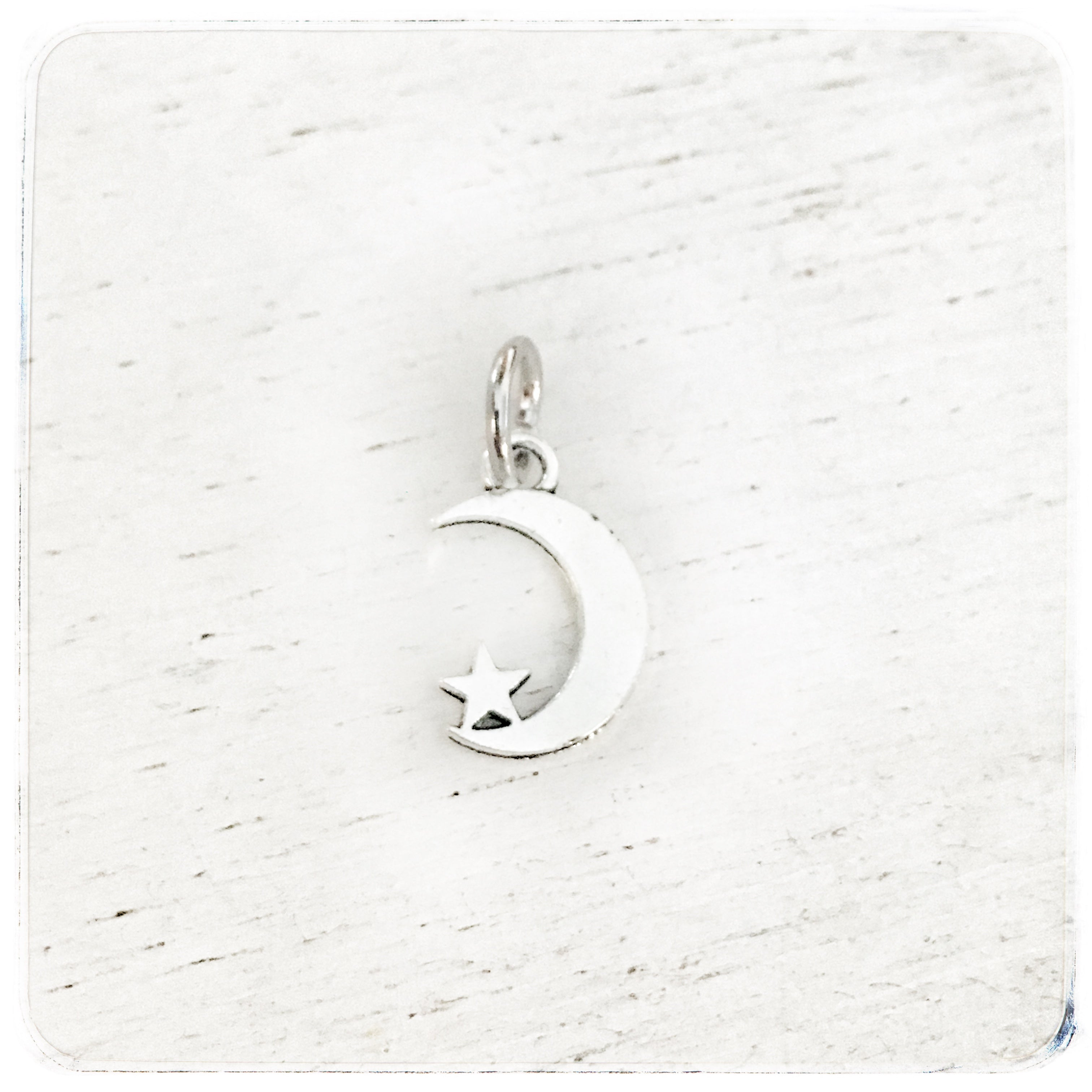 Small moon with star - Charm