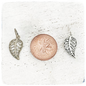 Small Fancy Leaf - Charm