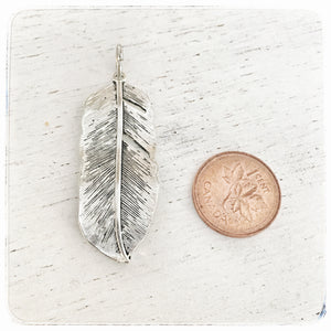 Large Feather - Charm
