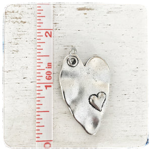 Heart with small heart - Charm