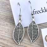 Filigree Leaf Earrings