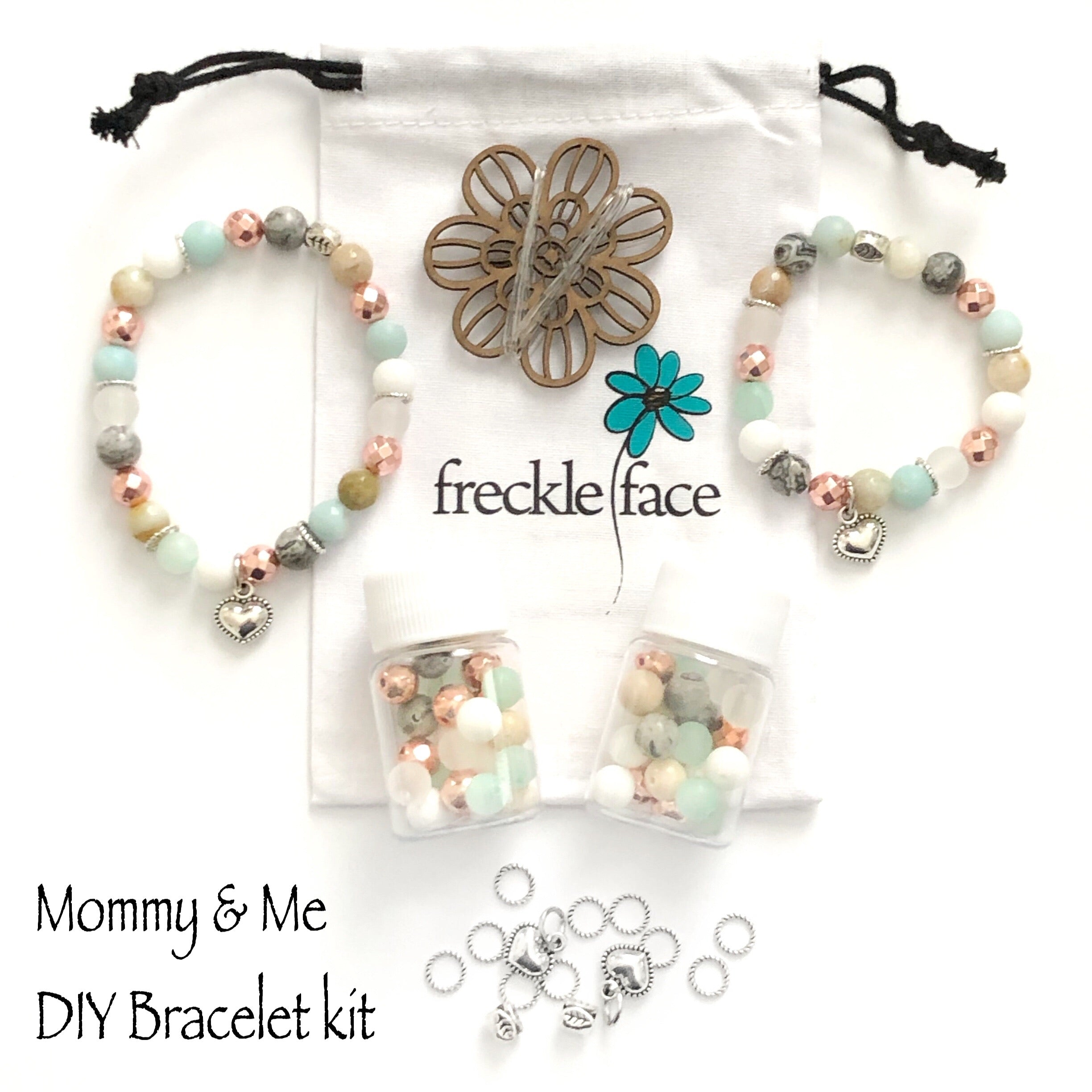Mommy and Me DIY Bracelet Kit - 8mm beads with charms