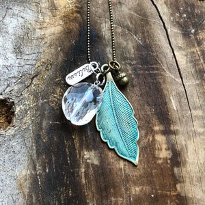 Patina Leaf Necklace