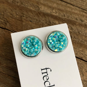 Druzy Stud Earrings - Spring colors