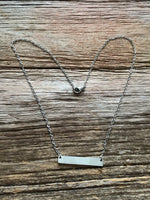 Stamped Bar Necklace