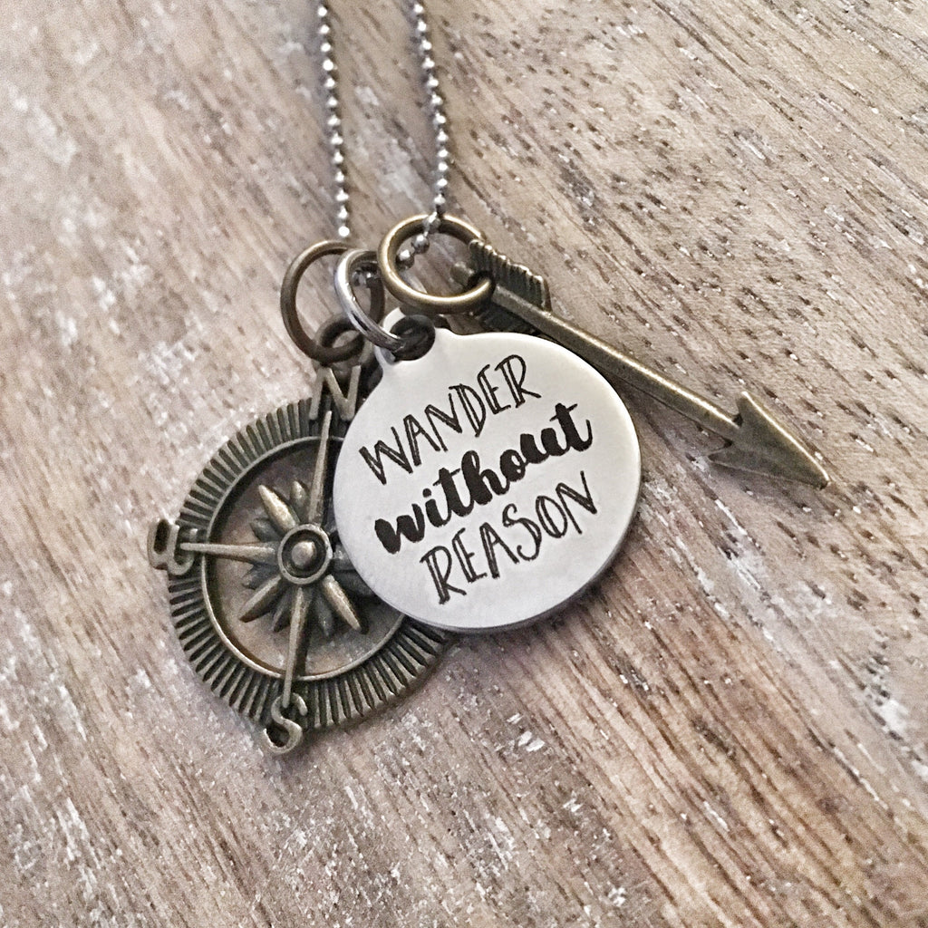 Wander Without Reason Charm Necklace