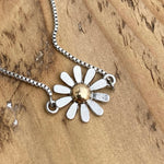 Adjustable Bracelet - Daisy with Gold Center