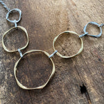 A Touch of Gold Circle Bib Necklace